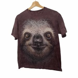 The Mountain Large Sloth Brown T-shirt Small